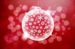 抽象背景球圣诞灯 免版税库存图片