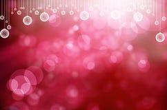 抽象背景球圣诞节 免版税图库摄影