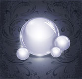 抽象背景球玻璃发光 免版税库存图片