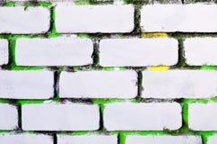 抽象背景砖墙绘了白色颜色 免版税库存图片