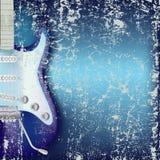 抽象背景破裂的电吉他 免版税库存照片