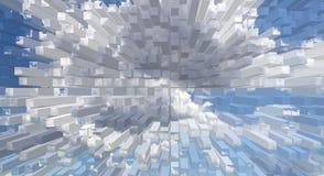 抽象背景立方体样式墙纸 库存图片