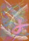 抽象背景粉红彩笔丝带 免版税库存照片