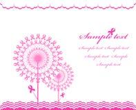 抽象背景粉红色丝带技术支持 免版税图库摄影