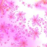 抽象背景粉红色星形白色 库存例证