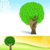 抽象背景系族树向量 免版税库存图片