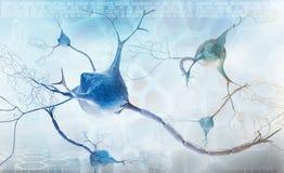 抽象背景紧张的神经元系统 库存例证