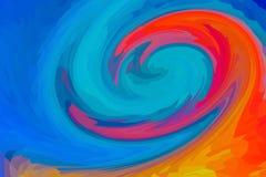 抽象背景纹理分数维混合上色蓝色橙红五颜六色的纹理 库存照片