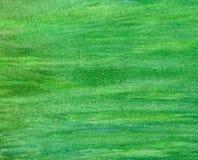 抽象背景绿色冲程水彩 库存图片