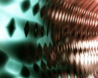 抽象背景绿色橙色声波 图库摄影