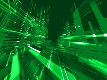 抽象背景绿色矩阵 皇族释放例证