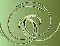 抽象背景绿色螺旋 免版税库存图片