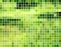 抽象背景绿色马赛克正方形黄色 免版税库存照片