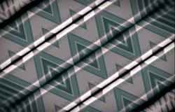 抽象背景绿色 菱形的装饰品木表面上的绘与油漆 免版税库存图片