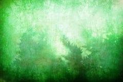抽象背景绿色grunge植被 库存图片