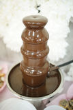 抽象背景美丽的巧克力液体 免版税库存图片