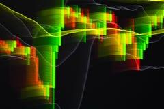 抽象背景股票图表 免版税库存图片