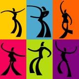 抽象背景舞蹈演员 免版税库存照片