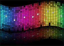 抽象背景色的彩虹 库存图片
