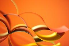 抽象背景色的橙色纸张 库存图片
