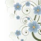 抽象背景花卉安排文本 免版税库存照片