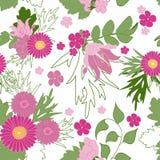 抽象背景花卉无缝 花,叶子,叶子 免版税图库摄影