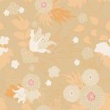 抽象背景花卉无缝 花,叶子,叶子 免版税库存图片