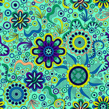 抽象背景花卉无缝 库存例证