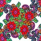 抽象背景花卉模式 免版税库存照片