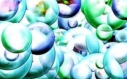 抽象背景荧光的色的用铅笔写的引起的分数维圈子和螺旋数字式图形设计图表占星术 A 向量例证