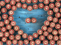 抽象背景蓝色例证编号 免版税库存照片