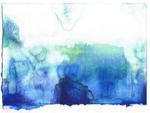 抽象背景蓝色做的自水彩 免版税库存图片