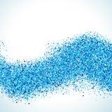 抽象背景蓝色向量 库存例证