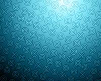 抽象背景蓝色圈子 库存例证