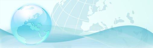 抽象背景蓝色地球通知 免版税库存图片