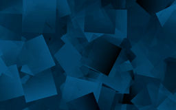抽象背景蓝色多维数据集 库存图片