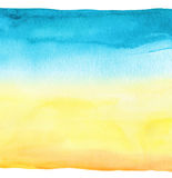 抽象背景蓝色手画水彩 纸织地不很细 免版税图库摄影