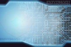 抽象背景蓝色新款式技术 免版税图库摄影