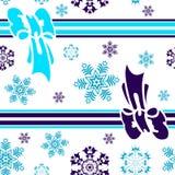 抽象背景蓝色无缝的冬天 库存例证
