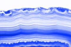 抽象背景蓝色桃红色玛瑙短剖面切片矿物 免版税库存照片