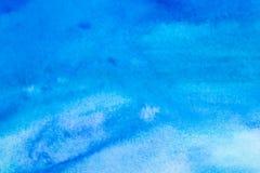 抽象背景蓝色水彩 免版税库存照片