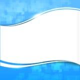 抽象背景蓝色波浪曲线和照明设备元素传染媒介 免版税库存照片