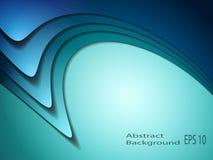 抽象背景蓝色波浪 向量例证