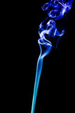 抽象背景蓝色烟 免版税库存图片