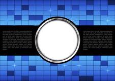 抽象背景蓝色窗口和金属盘旋纹理 皇族释放例证