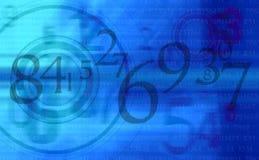 抽象背景蓝色编号 免版税库存图片