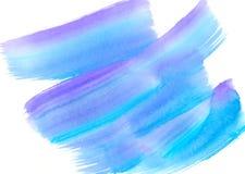 抽象背景蓝色色的纸纹理水彩 库存照片