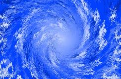 抽象背景蓝色螺旋 向量例证