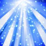 抽象背景蓝色闪闪发光星形 免版税库存照片