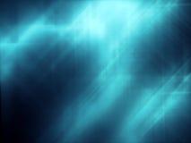抽象背景蓝色黑暗的光 库存照片
